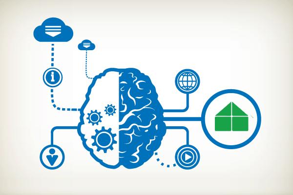 modular home building genius brain illustration
