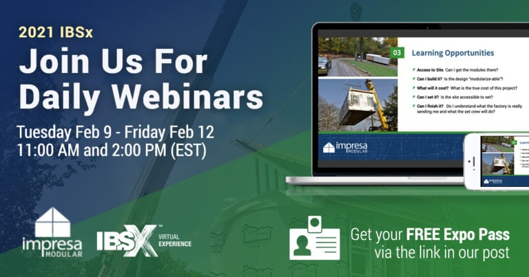 Join us for daily webinars at IBSx 2021